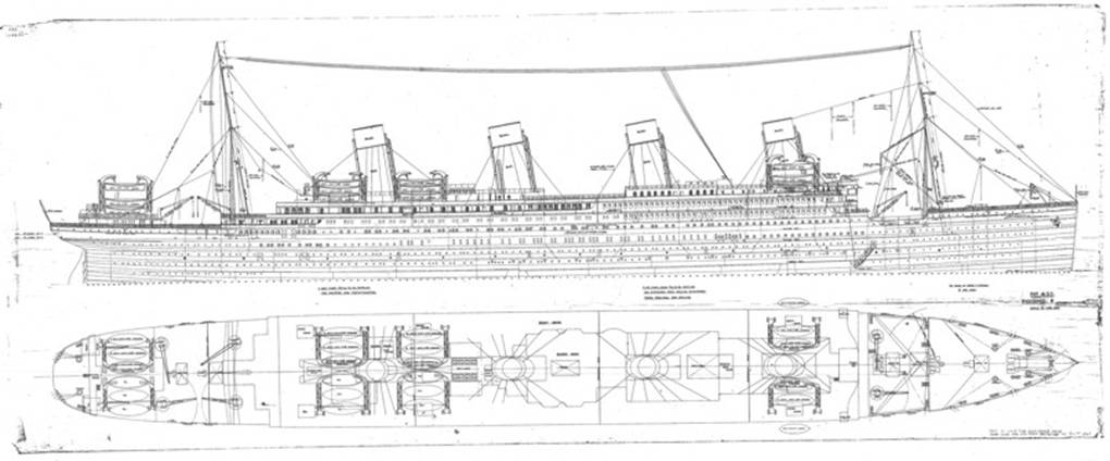 Rms Olympic Deck Plans