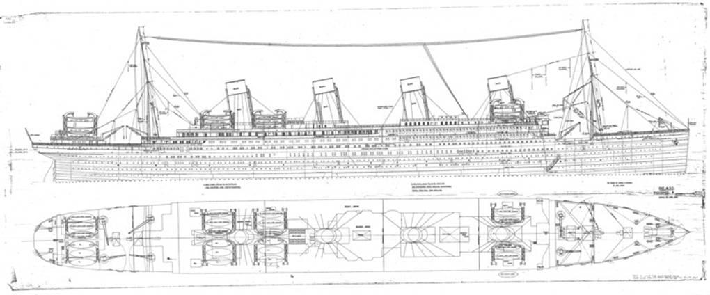 """20. """"Riggingand General Arrangement Plan"""" of Britannic 2/3"""