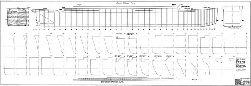 titanic model plans